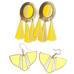 Vintage Jewelry - VINTAGE SouthWestern Style Enameled Earring Bundle